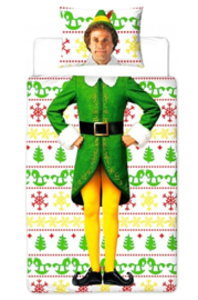 Kerst dekbedovertrek  Elf Buddy -1 persoons