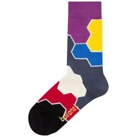 Ballonet MoleculeToy dames sokken mt 36-40 kleurige vakken