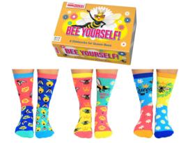 Oddsocks - Cadeaudoos Bee Yourself met 6 verschillende sokken - maat 37-42