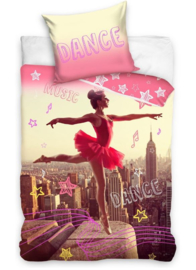 Ballerina danseres dekbedovertrek  Dance - eenpersoons met 1 kussensloop