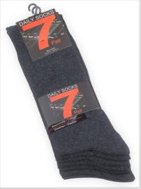 SEVENSOCKS SUPERAANBIEDING 7 paar sokken voor alledag - antraciet - maat 43/46