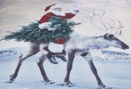 Kerst dekbedovertrek Coming to Town - 2 persoons met 2 x kussensloop