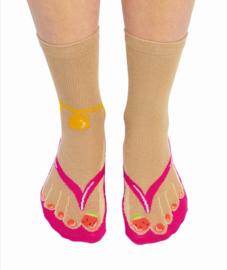 Flip flop slipper sokken - maat 37/42