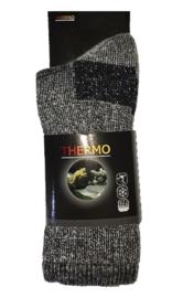 THERMO sokken met 40% wol - grijs - maat 39/42