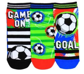 Oddsocks - Mismatched Gekke Sokken - 3 sneaker sokken - voetbal - maat 39 tot 46