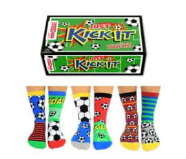 Oddsocks - Mismatched sokken - Cadeaudoos met 6 voetbal sokken - maat 30,5 tot 39