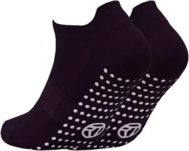 Anti slip sport sokken - maat 31/36 - boy - set van 3 paar zwart