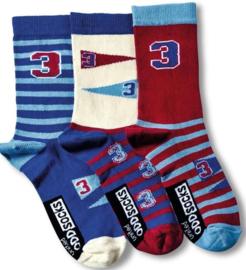 Oddsocks - Mismatched verschillende sokken - Varsity - 3 sokken - maat 31 tot 38