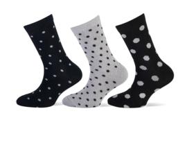 Set van 3 paar feest lurex sokken maat 31-34 ( in verschillende maten te koop moeder-dochter)
