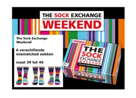 Sock Echange Weekend sokken - Oddsocks  - 6 verschillende mismatched sokken  - maat 39-46