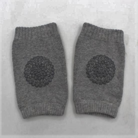 Anti slip kniebeschermers / Kniepads midden grijs