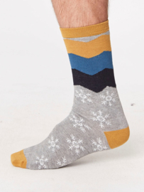 Bamboe sokken - snowflake - set van 3 paar -  maat 41-46