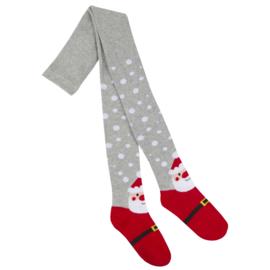 kerst kinder maillot grijs met wit en kerstman afbeelding voor 7 tot 8 jaar