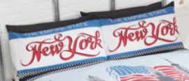 New York Empire State dekbedovertrek Lits-jumeaux met 2 kussenslopen