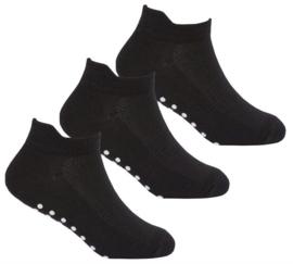 Antislip sport sokken -yoga - pilates - gym - maat 27/30 - girl - set van 3 paar zwart