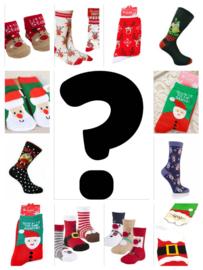 AANBIEDING 1 paar verrassings kerst sokken, niet kiezen, niet ruilen