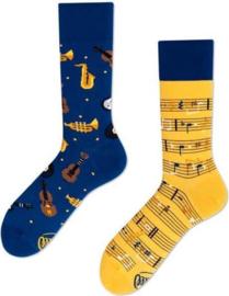 Many Mornings Mismatched sokken - Muziek - maat 43 - 46