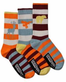 Oddsocks - Mismatched verschillende sokken - Wild - 3 sokken - maat 31 tot 38