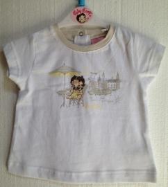 Betty Boop baby t-shirt Wit