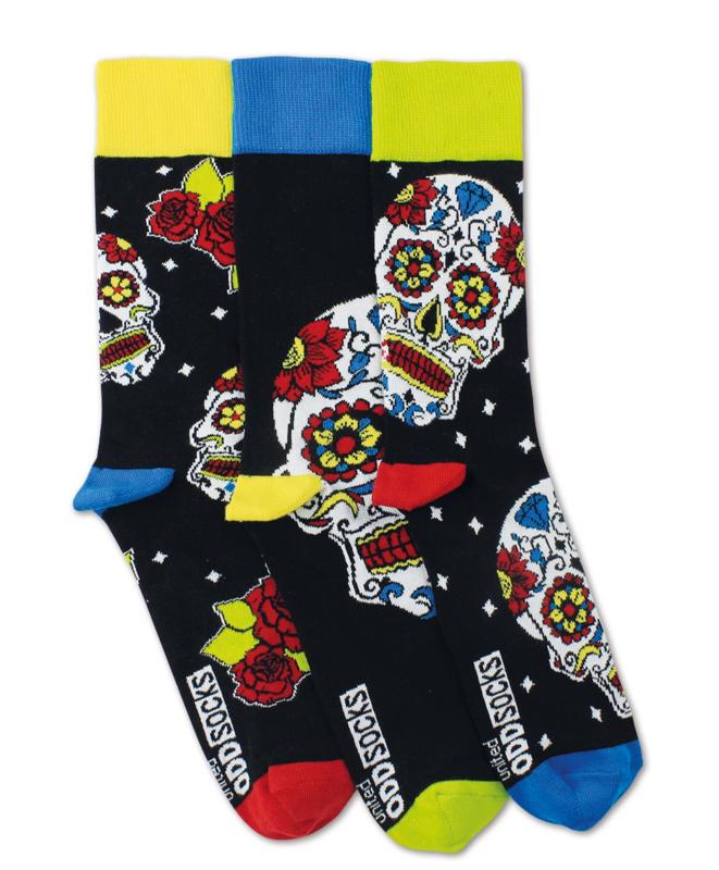 Oddsocks - Mismatched Gekke Sokken - Wesley - 3 sokken - maat 39 tot 46