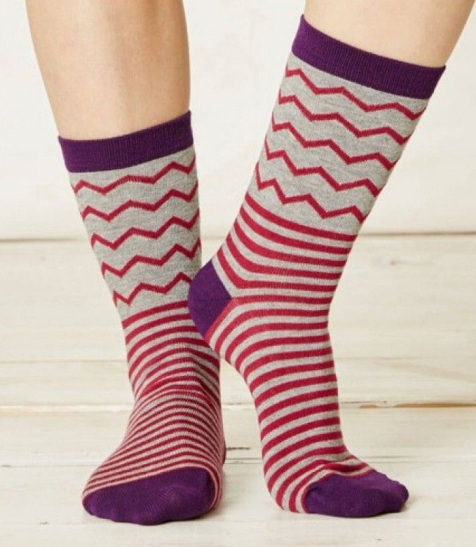 Bamboe dames sokken - Vittoria Raspberry -  maat 37-41