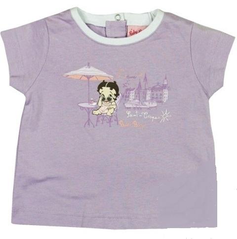 Betty Boop baby t-shirt Lila