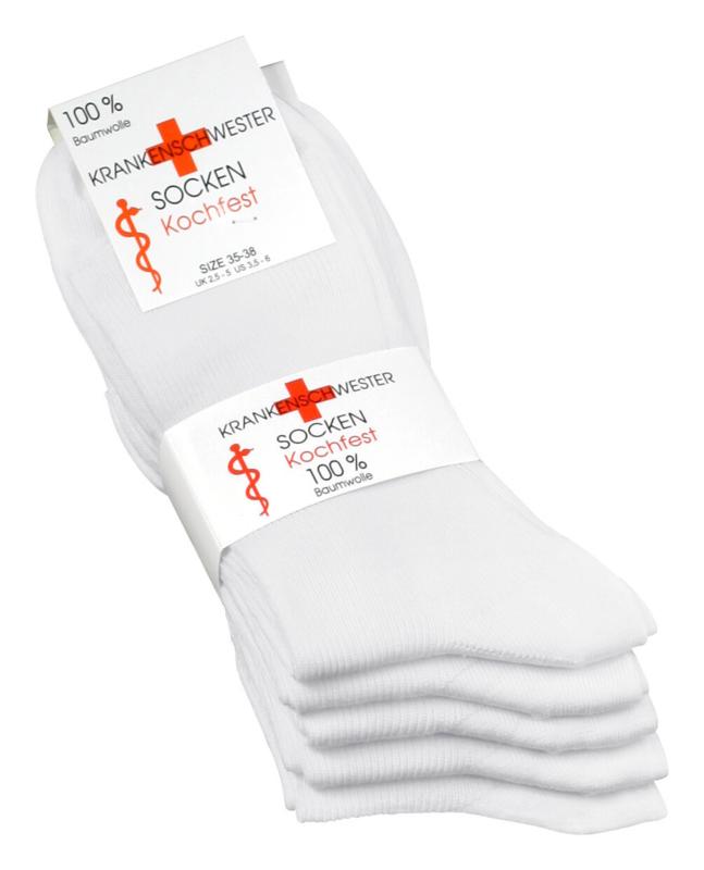100% katoenen diabetes sokken, set 5 paar, zonder knellend boord en met zachte teennaad , mt 35 - 38