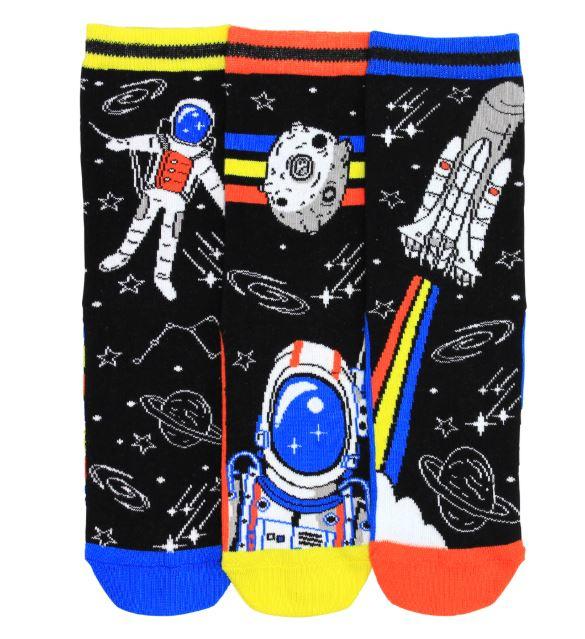 Astro Space sokken - Oddsocks - Gekke Mismatched Sokken - 3 sokken - maat 31 tot 39