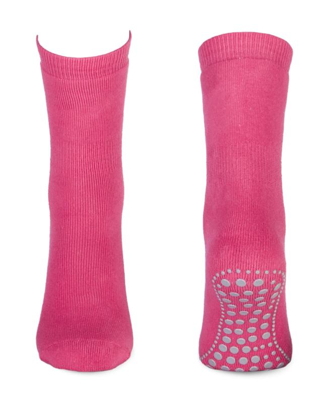 4671 Anti slip huissokken Yellow Moon - fuchsia roze maat 27/30