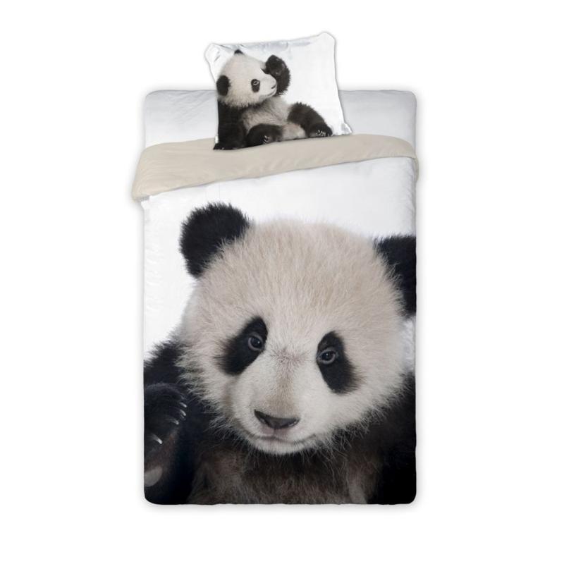 Dieren dekbedovertrek -  zwart wit Panda