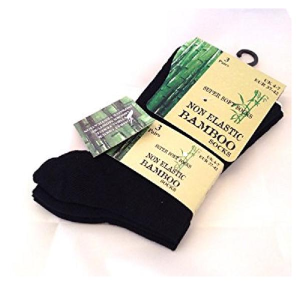 Set van 3 paar bamboe viscose sokken, zwart, maat 37-42