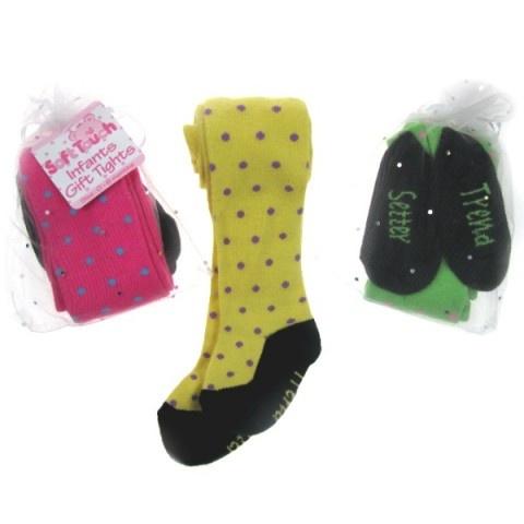 baby maillot - met leuke gekleurde stippen - in tule cadeau zakje