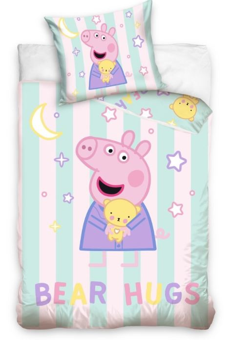 Peppa Pig - Bear Hugs - dekbedovertrek in ledikant maat