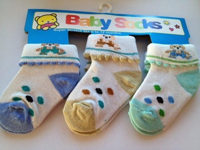babysokjes model D set van 3 paar van 0 tot 12 maanden