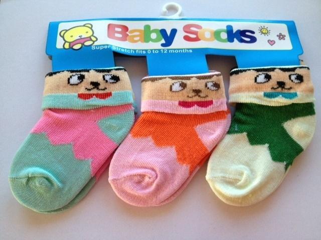baby sokjes model A set van 3 paar van 0 tot 12 maanden