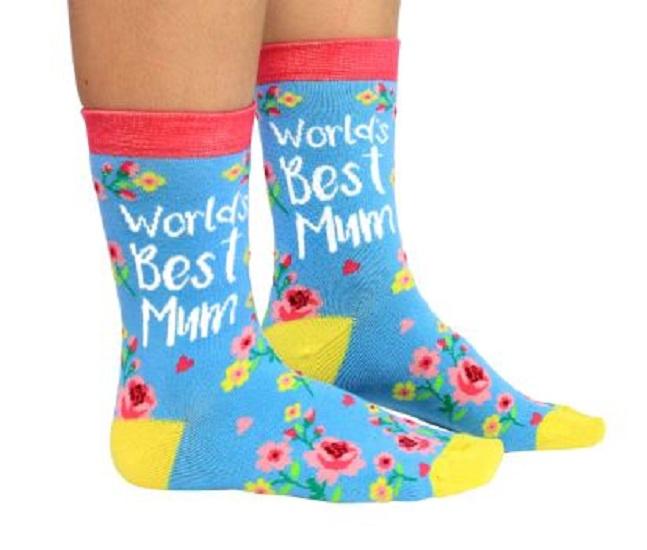 Mama sokken - World's Best Mum - maat 37 tot 42