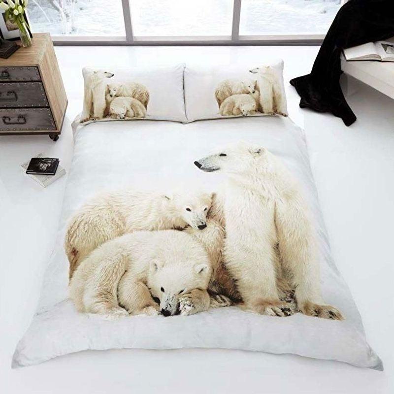 IJsbeer  tweepersoons dekbedovertrek Polar Bear met grote afbeelding