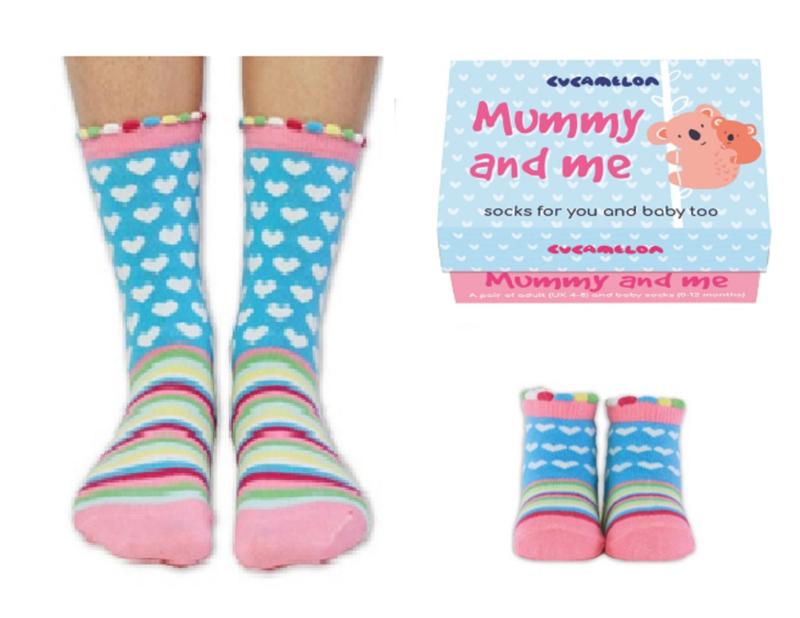 Cadeaudoosje met Moeder Dochter sokken - Mummy and Me
