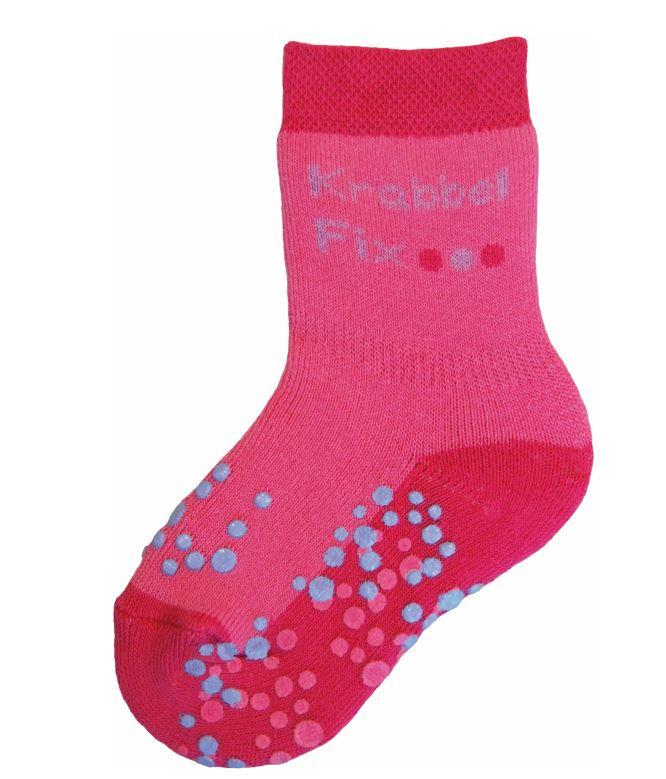 Ewers anti slip sokken Krabbelfix fuchsia maat 17-18