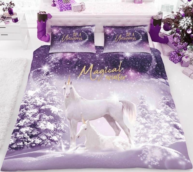 Kerst dekbedovertrek Magical Winter  - Lits-jumeaux met 2 kussenslopen
