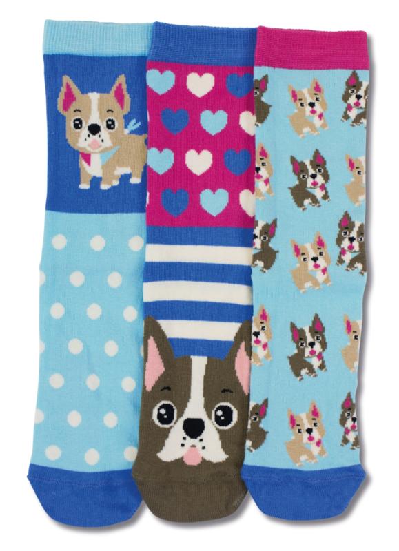 Oddsocks - Mismatched verschillende sokken - Lucy - 3 sokken - maat 37 tot 42