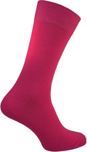 Cerise neon Rock 'n Roll teddy sokken in maat 39 - 46