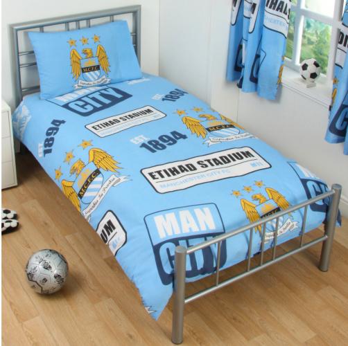 Manchester City Football Club dekbedovertrek emblemen