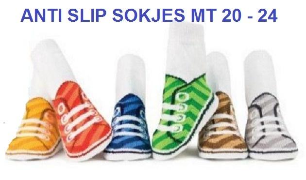5180 Anti slip sokken set van 6 paar in leuk gym schoentjes model