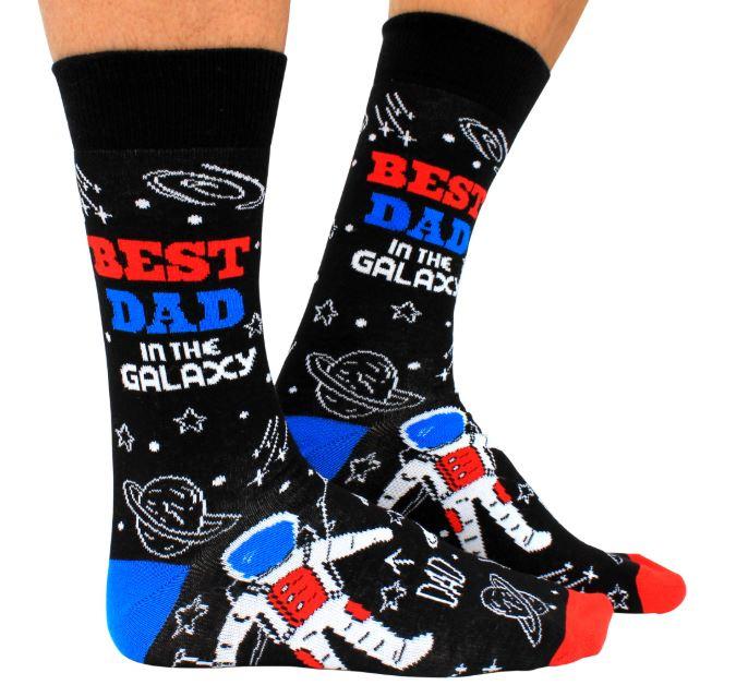 Papa sokken - Vader sokken - Best Dad in the Galaxy - maat 39/46