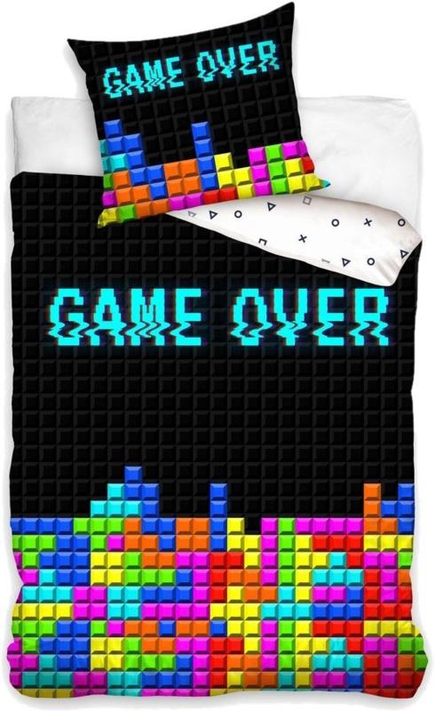 Game Over Tetris blocks - eenpersoons met kussensloop