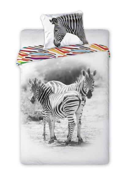 Zebra eenpersoons dekbedovertrek