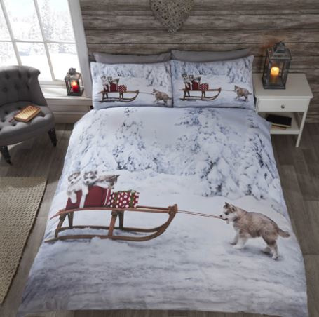 Husky dekbedovertrek - lits jumeaux met 2 kussenslopen