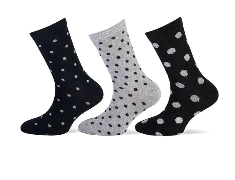 Set van 3 paar feest lurex sokken maat 23-26 ( in verschillende maten te koop moeder-dochter)