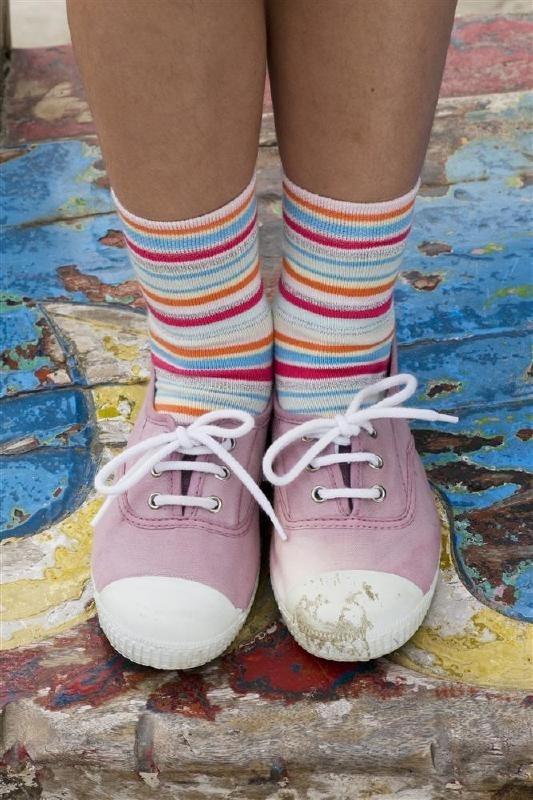 Bonnie Doon Glitter streepjes meisjes sokken mt 23 - 26